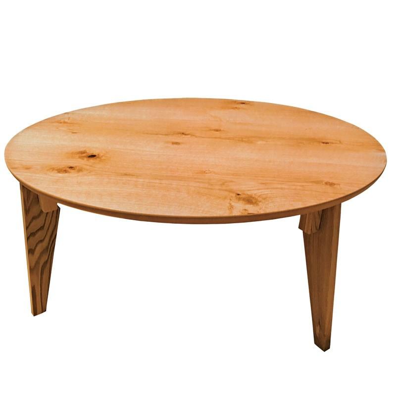 折れ脚円形座卓テーブル 90センチ丸型 さぬき丸 ナラ ローテ-ブル ちゃぶ台 日本製