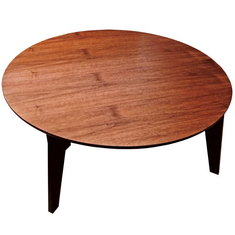折れ脚円形座卓テーブル ローテ-ブル 90センチ丸型 日本製 さぬき丸 ウォールナット ちゃぶ台