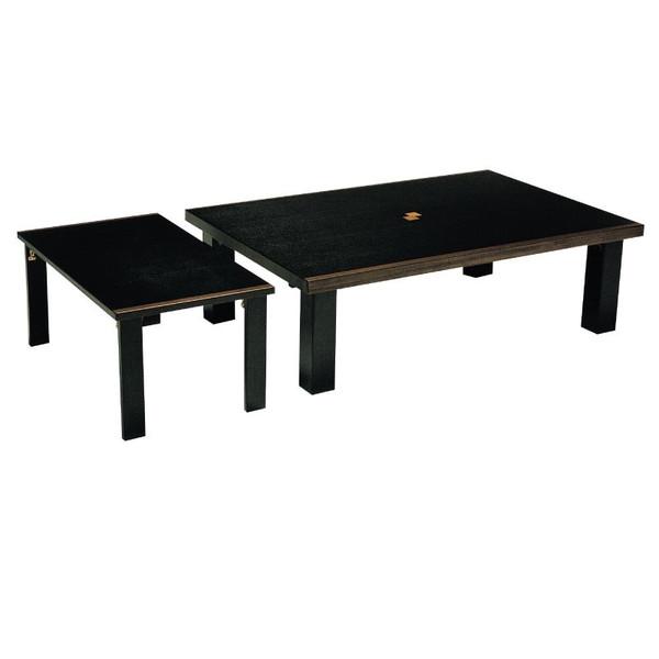 ローテーブル 座卓 座敷机 ちゃぶ台 折れ足モダンタイプ座卓 120巾長方形 セレブ120小卓付
