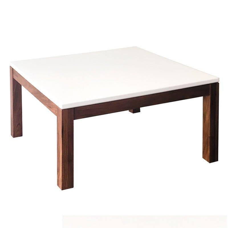 白色座卓テーブル 正方形幅70×70センチ シーロ ローテ-ブル ちゃぶ台 日本製