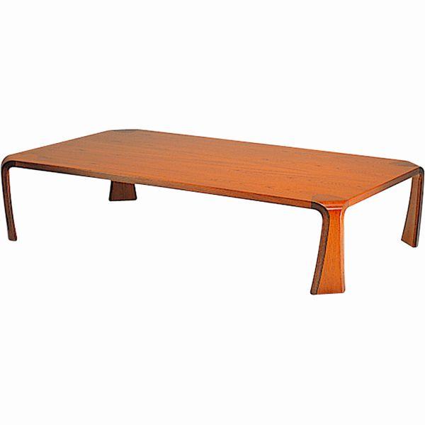 曲げ木座卓テーブル 座敷机 ローテーブル ちゃぶ台 乾 三郎 150幅 ケヤキ天然杢(濃いケヤキ色=KY-KB) 日本製