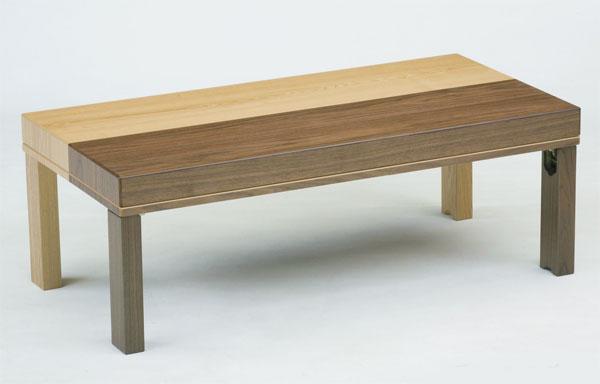 1台で2台に使える 折れ脚収納こたつテーブル 120巾長方形 ツインズ