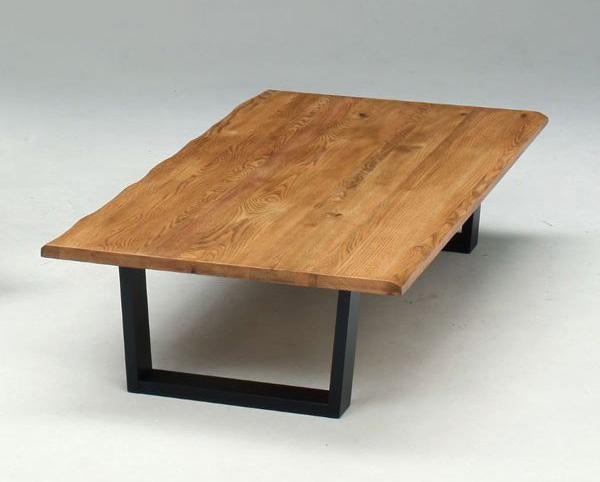 座卓 ローテーブル 150巾長方形 ナチュラルタイプ 座卓テーブル オーク節有り無垢材 150
