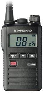 【送料無料】《FTH-308L》無線機(スタンダード/特定小電力トランシーバー)防塵防水性IP67・超小型軽量・ロングアンテナ 特定小電力無線機!(FTH308L)