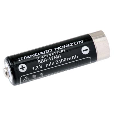スタンダードホライゾン特定小電力無線機用のバッテリー 対応機種:SR100A ストア SR70A SR100 SR70 CL70A 出色 CL120A 《SBR-17MH》 スタンダードホライゾン 2400mAh 旧:SBR-15MH YAESU min ニッケル水素電池 八重洲無線