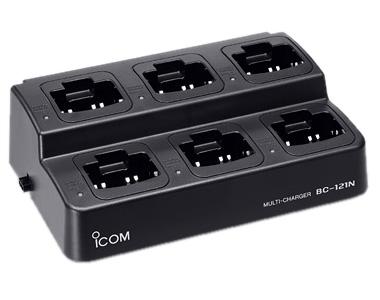 【送料無料】《BC-121NA》(アイコム/6連急速充電器)6台まで一度に充電!(BC-157SまたはOPC-656と一緒に使用)