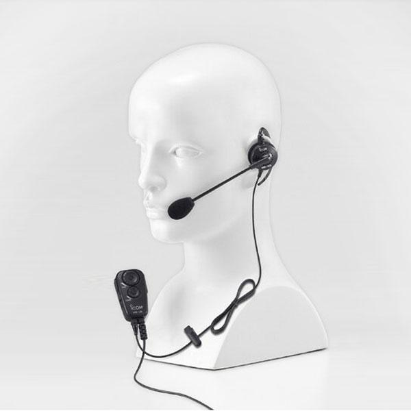 【送料無料】《HS-99+VS-2L》(アイコム/耳掛けイヤホンマイク)手を使わずに通話できるVOX対応スイッチユニット(VS-2L)付き IC-4100 / IC-4110 用