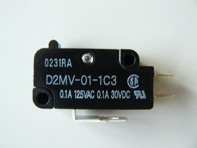 オムロン製マイクロスイッチ[押圧50g]【D2MV-01-1C3】