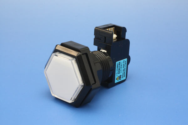Light expression push button flat-panel 40 mm diameter hexagon (micro switches integrated) (LED lamp)