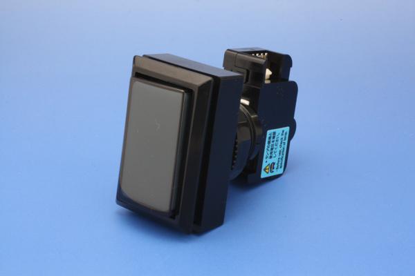Illuminated expression push button flat-panel 45 mm rectangle smoke (micro switches integrated) (no ramp)