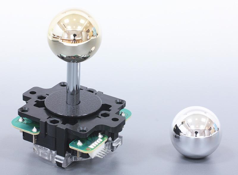 Metallic lever ball