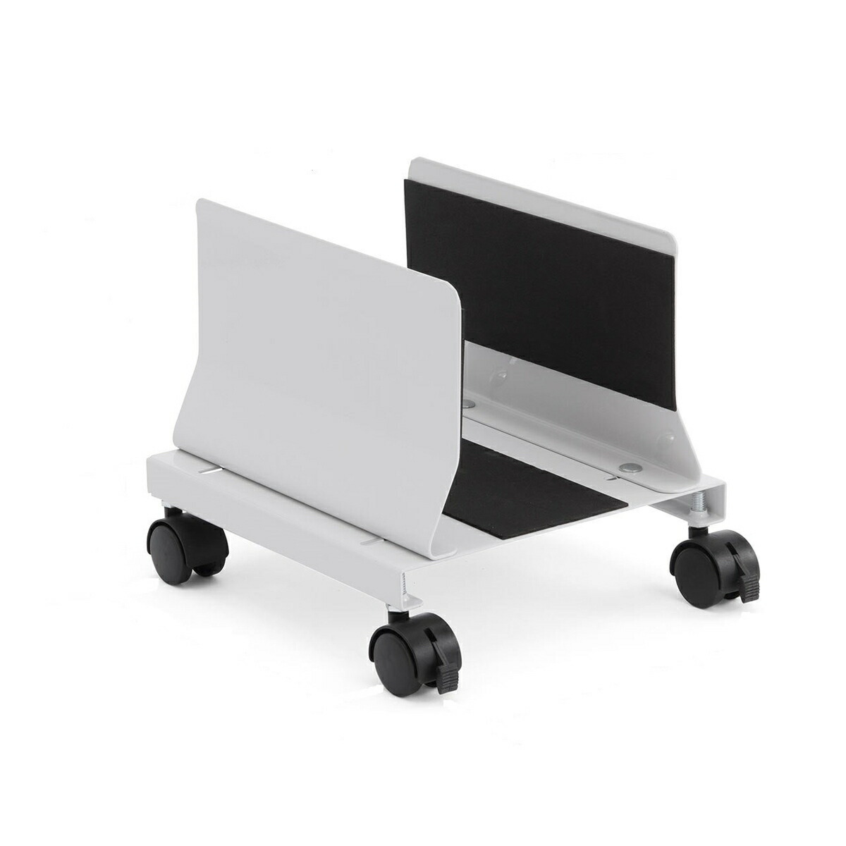 [100-CPU003]【サンワダイレクト限定品】【送料無料】 CPUスタンド デスクトップ用 パソコン本体設置用 キャスター付き 幅13.2cm~22cm 無段階調節 スチール製 パソコンスタンド
