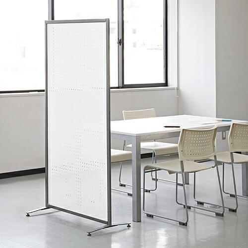 パーテーション 幅80cm×高さ160cm スチール製 マグネット使用可能 パンチング オフィス・店舗・家庭・事務所で使えるパーティション 衝立 ついたて 目隠し 間仕切り