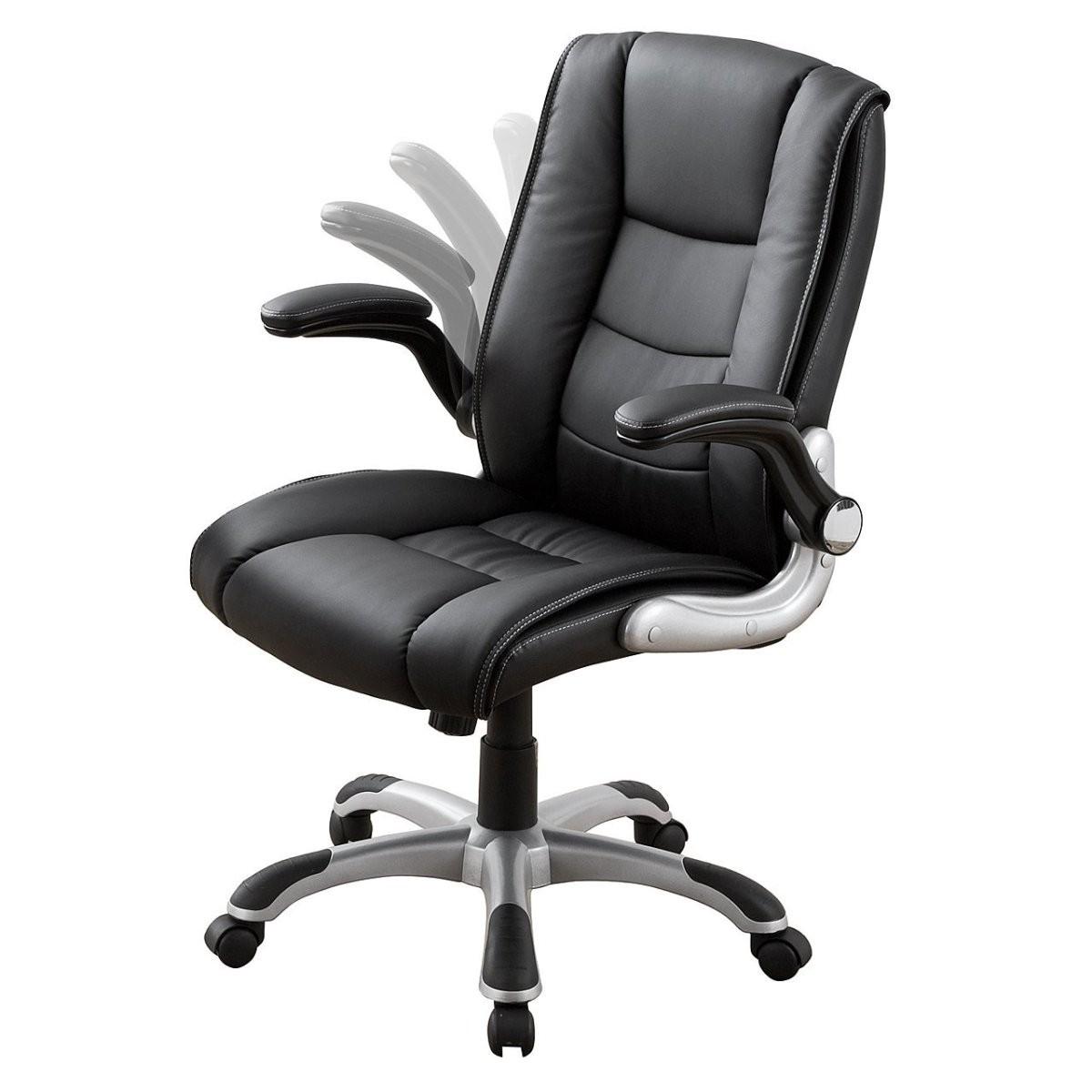 レザーチェア ブラック アームレスト 跳ね上げ式 可動肘 ロッキング プレジデントチェア オフィスチェア 椅子 [150-SNC116]【サンワダイレクト限定品】 【送料無料】