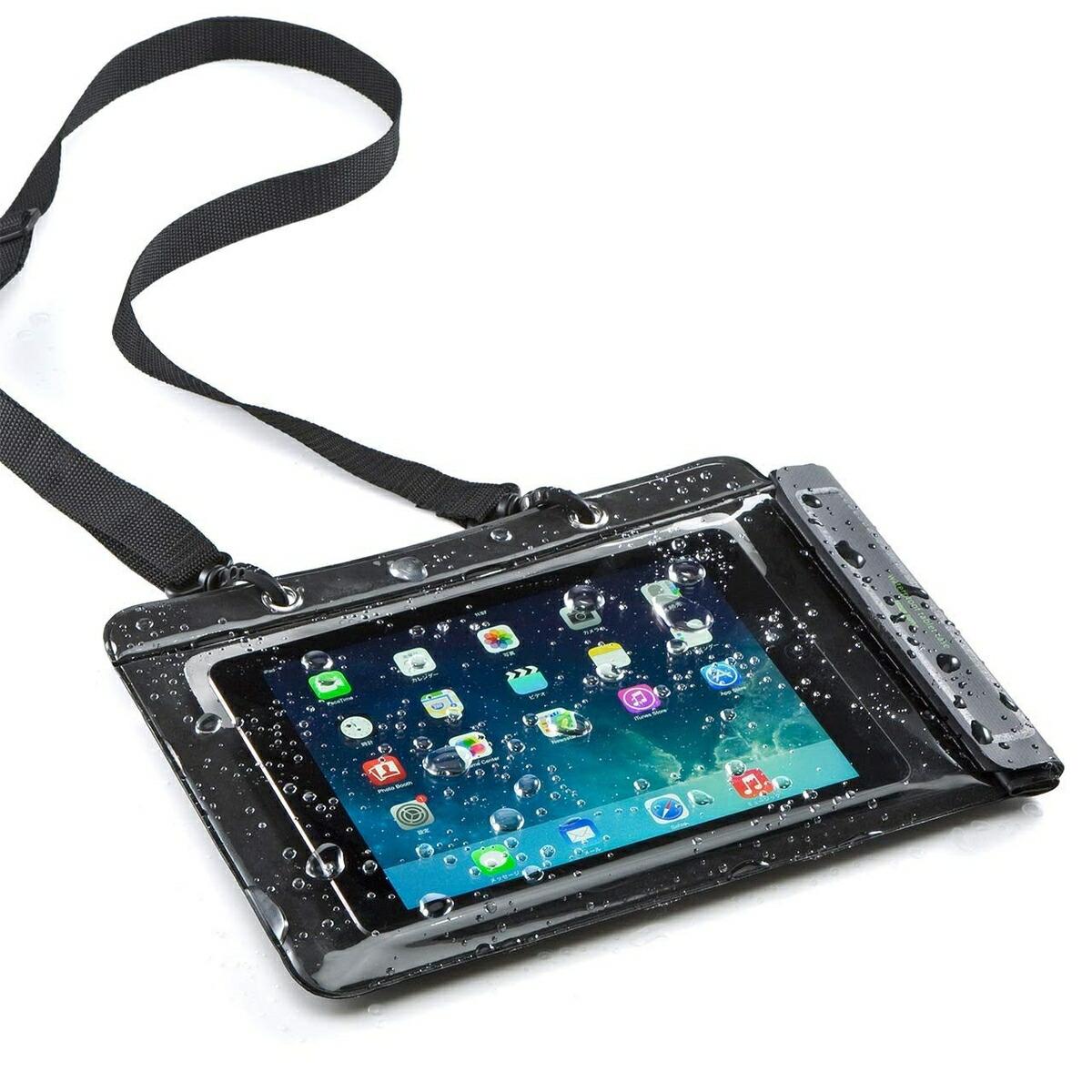 200-PDA127 サンワダイレクト限定品 iPad タブレット 防水ケース Air 送料無料 10.5インチ対応 スタンド機能付 水中撮影 プール お風呂に 新入荷 流行 防水カバー 海 汎用ケース