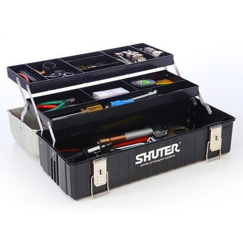 800-BYBOX2BK サンワダイレクト限定 送料無料 工具箱 おしゃれ ツールボックス プラスチック 道具箱 NEW ARRIVAL 激安 激安特価 持ち運び 整理 2段トレー付き