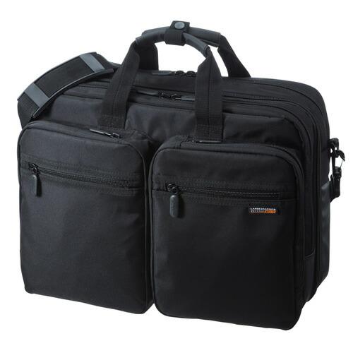 3WAYビジネスバッグ メンズ ダブル 出張用 ブラック 15.6型ワイド リュック [BAG-3WAY21BK] 【送料無料】