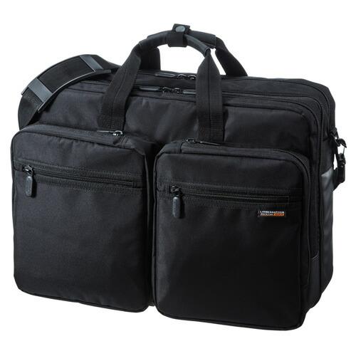 3WAYビジネスバッグ(15.6型ワイド・ダブル・出張用・大型・ブラック)[BAG-3WAY22BK]【送料無料】