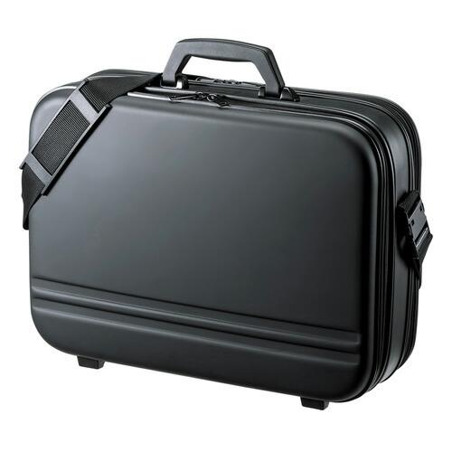 セミハードPCケース メンズ ダブル ブラック 17.3型ワイド対応 ビジネスバッグ