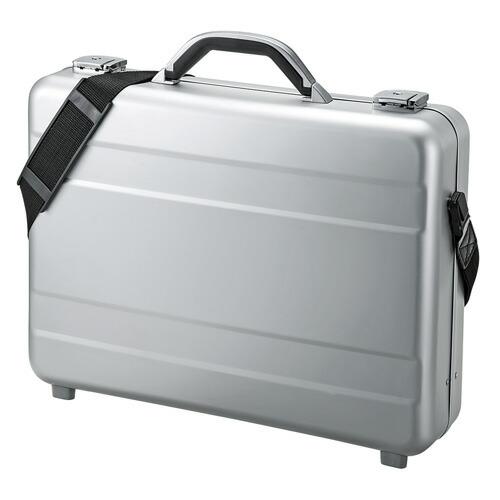 パソコンケース メンズ 2層式書類入れ シルバー 15.6型ワイド ビジネスバッグ[BAG-AL4]【送料無料】