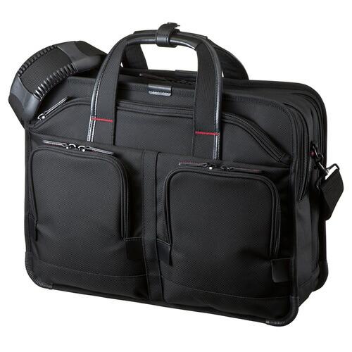 ビジネスバッグ 15.6インチワイド ダブルルーム ブラック PRO メンズ パソコンバッグ ビジネスバック