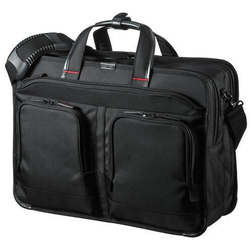 ビジネスバッグ(大容量・15.6インチワイド・メンズ・ブラック)