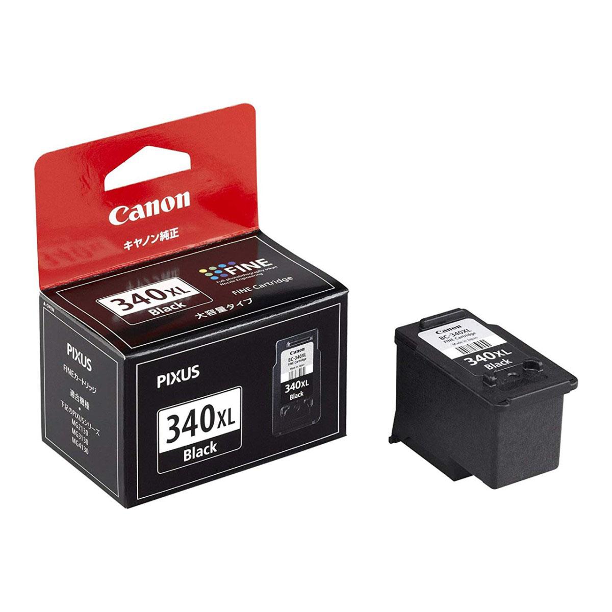 送料無料 まとめ割 2個セット キャノン 純正インク Canon ついに再販開始 大容量 通信販売 FINEカートリッジキヤノン ブラック BC-340XL