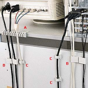 CA-500 訳あり商品 実物 サンワサプライ ケーブルホルダー 3種類のケーブルクリップセット 配線の整理に最適