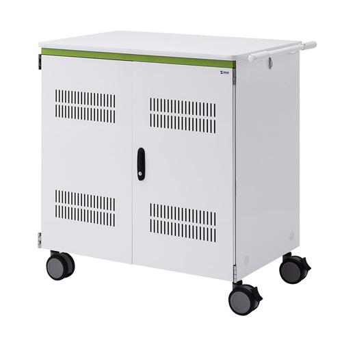 タブレット収納保管庫(12.9インチ対応・44台収納・前後扉仕様・ホワイト)[CAI-CAB25WN]【大物商品】