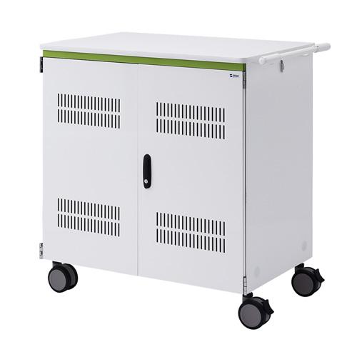 タブレット収納保管庫(12.9インチ対応・44台収納・前扉仕様・ホワイト)[CAI-CAB26WN]【大物商品】