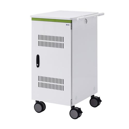 タブレット収納保管庫(12.5インチ対応・標準22台収納・前扉仕様・ホワイト)[CAI-CAB30WN]【大物商品】