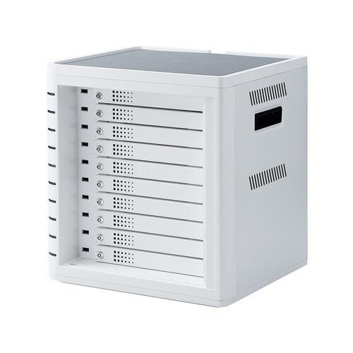 iPad・タブレット収納個別鍵付きキャビネット 10台収納 ホワイト [CAI-CAB31W]【サンワサプライ】【送料無料】