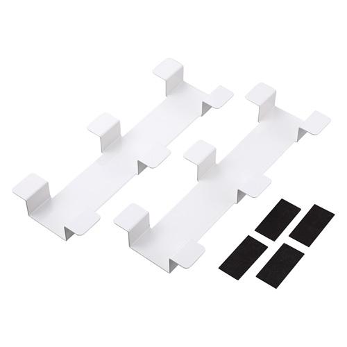 タブレット収納保管庫用ケーブルフックバー 2個セット ホワイト [CAI-CABCHB1W]【サンワサプライ】【送料無料】