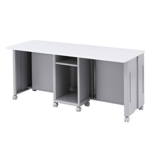 オフィスデスク CAIデスク 液晶ディスプレイ収納 昇降タイプ 幅160cm [CAI-LCD166K]【サンワサプライ】【大物商品】