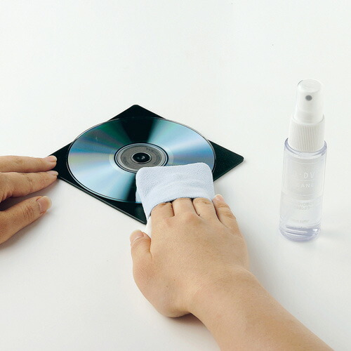 CDクリーナー DVDクリーナー パッドタイプのクリーニングクロスとトレイのセット [CD-R54KT]【サンワサプライ】