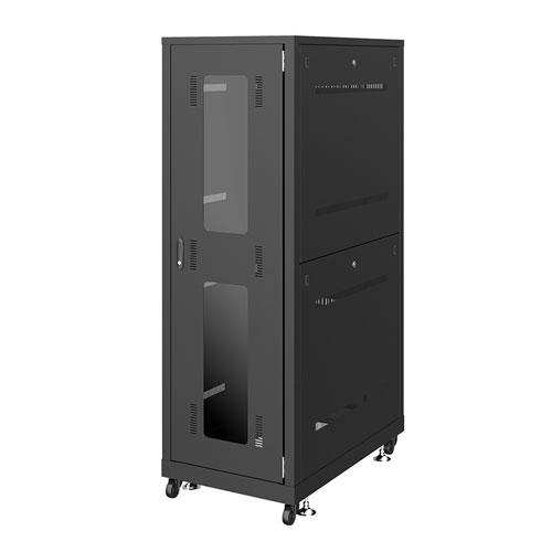 19インチサーバーラック 大型 36U 奥行100cm 通常パネル ブラック [CP-SVN3610BKN]【送料無料】