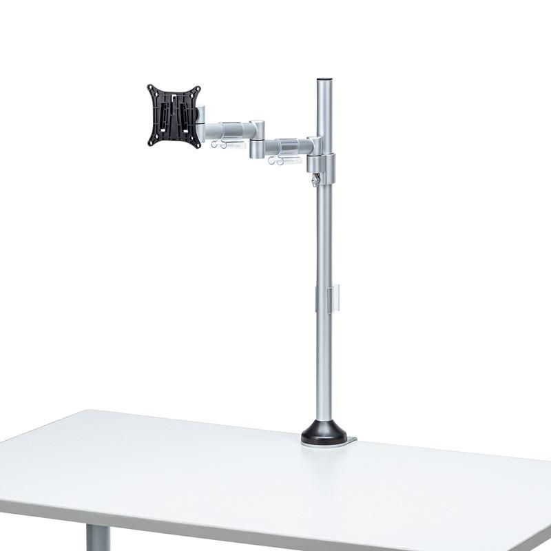 モニターアーム(水平多関節・クランプ式・ネジ固定・1面・H720mm・24インチまで・耐荷重8kg)