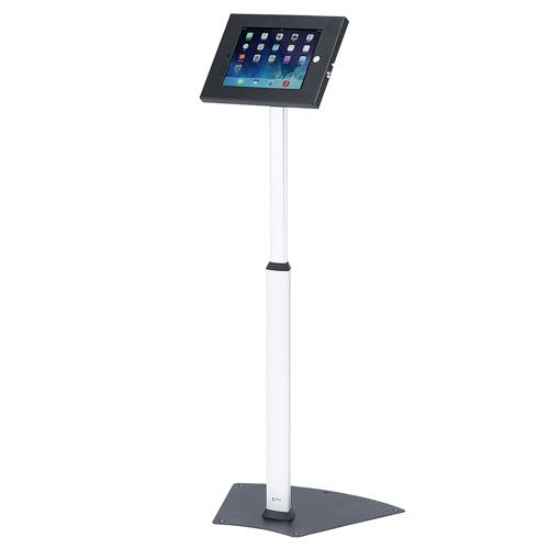 iPad フロアスタンド 高さ調整対応 セキュリティボックス付き モニタアーム タブレットアーム[CR-LASTIP14]【サンワサプライ】【送料無料】