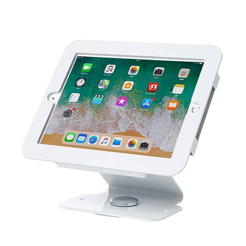 【店内全品ポイント5倍~3/11(月)1:59まで】iPadスタンド(iPad Air/Air2、9.7インチiPad Pro、9.7インチiPad 2017対応・回転盤付・ケース一体型)[CR-LASTIP25W]【送料無料】