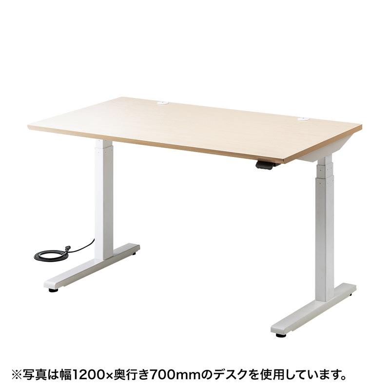 電動昇降デスク(Bluetooth内蔵・リマインダー機能・W1000×D700・薄い木目)[ERD-M10070LM]【送料無料】
