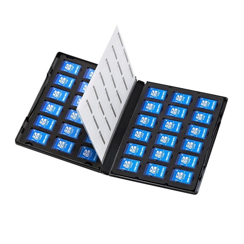 [FC-MMC21SD] トールケース型SDカード収納ケース(36枚収納・両面収納タイプ)