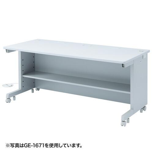 オフィスデスク GEデスク 幅160cm×奥行80cm 日本製 [GE-1681]【サンワサプライ】【大物商品】