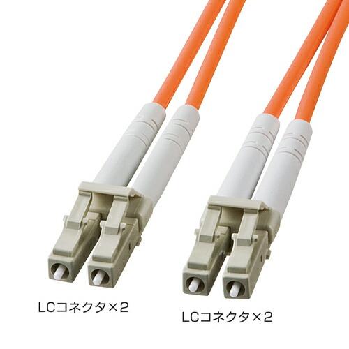 光ファイバーケーブル(LC・LCコネクタ・50m・コア径62.5ミクロン)[HKB-LCLC6-50L]【送料無料】
