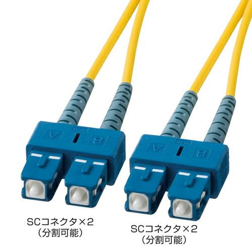 光ケーブル(SC・SCコネクタ・15m・コア径10ミクロン)