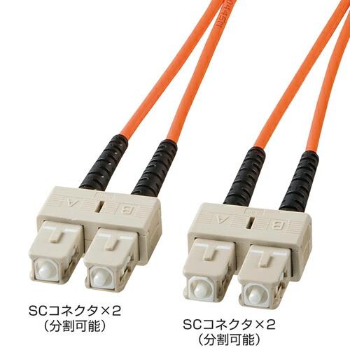 光ケーブル(SC・SCコネクタ・50m・コア径62.5ミクロン)[HKB-SCSC6-50L]【送料無料】