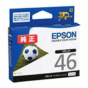 ネコポス対応 直営ストア エプソン 純正インク 売れ筋 ICBK46 インクカートリッジ サッカーボール ブラック EPSON