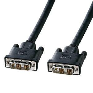 モニターケーブル パソコン用 10m 長距離伝送用DVIケーブル シングルリンク DVI24pinオス(DVI-D)-DVI24pinオス(DVI-D) ディスプレイケーブル [KC-DVI-100G]【サンワサプライ】【送料無料】