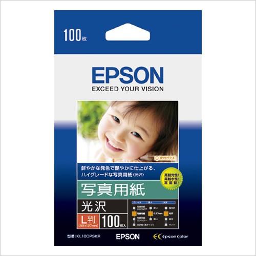 KL100PSKR EPSON エプソン純正用紙 限定モデル 限定Special Price 写真用紙 100枚 光沢 L判