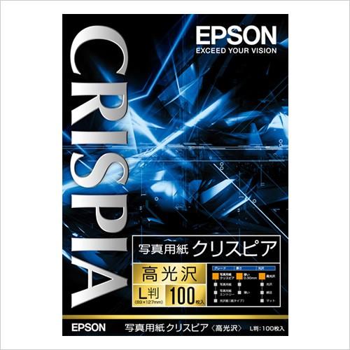 KL100SCKR EPSON エプソン純正用紙 《週末限定タイムセール》 写真用紙クリスピア L判 100枚 激安超特価 高光沢