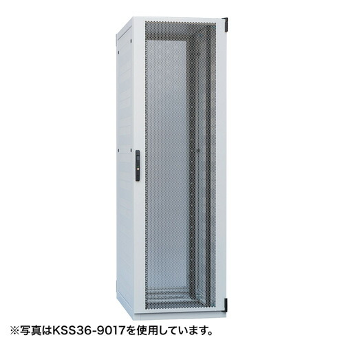 自然換気仕様サーバーラック(36U・W700×D900×H1750mm)[KSS36-9017W]【送料無料】